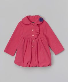Another great find on #zulily! Hot Pink Rose Bubble Coat - Infant, Toddler & Girls #zulilyfinds