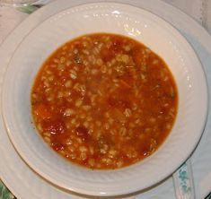 Ma petite vie!: Soupe à l'orge et aux tomates(mijoteuse) Canadian Food, Canadian Recipes, Stew, Crockpot, Slow Cooker, Chili, Clean Eating, Food And Drink, Meals