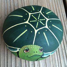 Items similar to Stone - Turtle Having a Good Day on Etsy