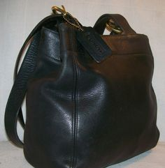 i want this!!! COACH ZOE BROWN LEATHER HANDBAG HOBO PURSE 12669 ...