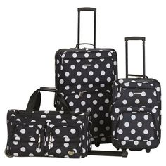 Polka Dot Luggage Set