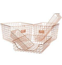 Copper Wire Organizer Tray - Large | Rejuvenation