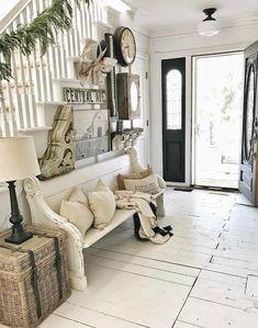 54 Small Foyer Decor Ideas for Entryway Home Living Room, Interior Design Living Room, Living Room Designs, Living Room Decor, Foyer Decorating, Interior Exterior, Dream Rooms, Home Decor Styles, Farmhouse Decor