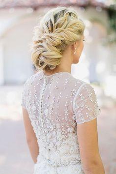 vintage twisted wedding updo bridal hairstyle