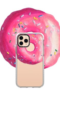 Sweet pink iced donut with sprinkle designed iPhone case for your iPhone. Iphone 11 Pro Case, Iphone 8 Plus, Iphone Case Covers, Pink Phone Cases, Cute Phone Cases, Iphone Accessories, Sweet Sweet, Art Design, Christmas Nails