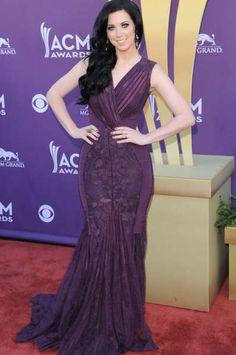 Purple lace hobble skirt dress