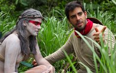 Here's Eli Roth With Lorenza Izzo On 'The Green Inferno' Set (Exclusive)
