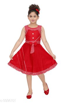 Frocks & Dresses  Doodle Classy Cotton Kid's Girl's Frocks Fabric: Cotton Sleeve Length: Sleeveless Pattern: Printed Multipack: Single Sizes: 4-5 Years  - 24 in 5-6 Years - 26 in 1-2 Years - 18 in 3-4 Years - 22 in 6-7 Years - 28 in 2-3 Years - 20 in Country of Origin: India Sizes Available: 2-3 Years, 3-4 Years, 4-5 Years, 5-6 Years, 6-7 Years, 7-8 Years, 8-9 Years, 1-2 Years   Catalog Rating: ★4 (503)  Catalog Name: Cutiepie Stylish Girls Frocks CatalogID_564766 C62-SC1141 Code: 852-3996101-675