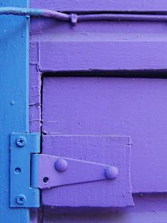 hinged and wired, purple and blue