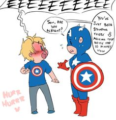 Coulson meeting Captain America (I'm not sure if that is Coulson but from his reaction it sure could be)