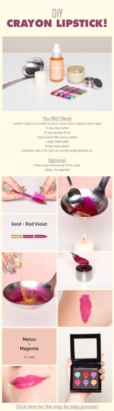 Step By Step How To Make Crayon Lipstick