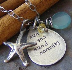 Hey, I found this really awesome Etsy listing at https://www.etsy.com/listing/62085578/sun-sea-sand-serenityhand-stamped