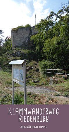 Klammwanderweg Riedenburg in Bayern - Tolle Aussicht beim Rundwanderweg, ideal für einen Ausflug in die Natur, etwa mit Hund und/oder Kindern. Germany, Hiking, Tours, Outdoor Decor, Travel, Hotels, Hiking Trails, Road Trip Destinations, Travel Advice