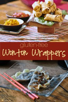 Gluten Free Wonton Wrapper - your new recipe! - gfJules Gluten Free Wonton Wrapper - your new recipe! Gluten Free Wonton Wrappers, Gluten Free Egg Rolls, Gluten Free Recipes For Dinner, Dinner Recipes, Clean Eating Snacks, Appetizer Recipes, Italian Appetizers, Free Food, Food To Make