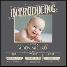 Cute birth announcement idea