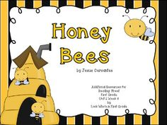 """Reading Street First Grade Unit 2 Week 6:  """"Honey Bees"""" Focus Wall, Literacy Centers, and Printables"""