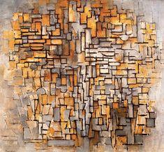 """""""Composizione VII"""" di Piet Mondrian (1872-1944, Netherlands)"""
