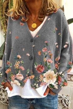 Mode Ab 50, Floral Sleeve, Mode Outfits, Mode Style, Daily Fashion, 60 Fashion, Types Of Sleeves, Sleeve Styles, Boho