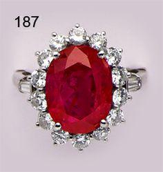 Art Deco 8.57ct Burma ruby, diamond and platinum ring. Van Cleef & Arpels.