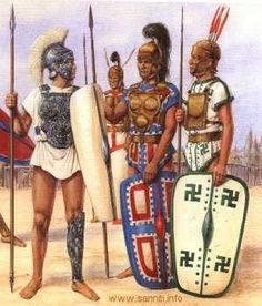Samnite warriors, c. 400 B.C.E . The Samnites came from the Apennine highlands of central and southern Italy. They had a military tradition as old as Rome itself. They were an expansionist people until they were forcibly put down, for the last time in the 290's BC.