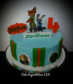 Zootopia inspired Birthday Cake
