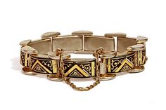 Vintage 1940s Panel Link Spanish Bracelet by boboCOLLECTED on Etsy
