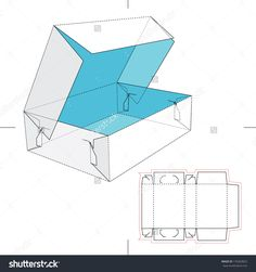 Lid And Tray Box With Blueprint Layout Stock Vector Illustration 170269823 : Shutterstock