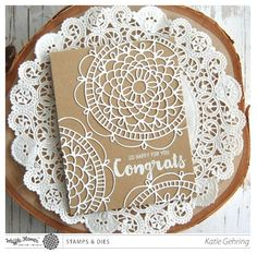 Waffle Flower's fab new Doily Circle Die! http://waffleflower.com/2015/04/introducing-doily-circle-doily-square-stamp-sets-dies/