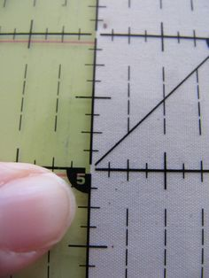 "Thought I would do a post on how to cut fabric squares with a rotary cutter and cutting mat.     Cotton fabric is usually 42""-45"" inches w... Rotary Cutter, Fabric Squares, Square Quilt, Quilt Tutorials, Sewing Crafts, Sewing Projects, Cotton Fabric, Ruler, Fabric"