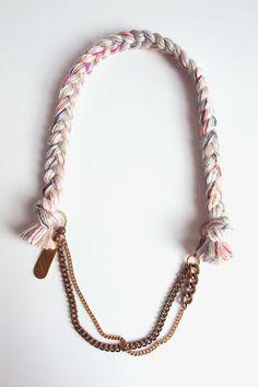 Plait Necklace // Alle Vogel