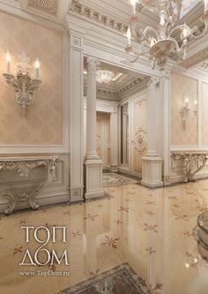 Дизайн гостиной <strong>в классическом стиле в</strong> 2 уровневой квартире