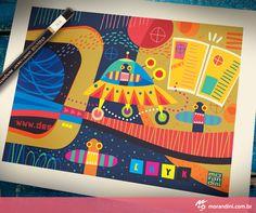 Editorial illustration for Design Magazine Brasil.  By Morandini