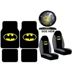 Batman Car Accessories - I have all this, plus seat belt covers