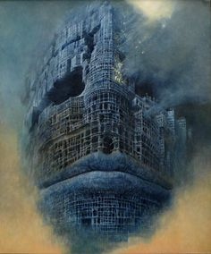Beksinski painting Morpheus Surreal Art