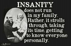 Insanity is such a lovely fellow :)