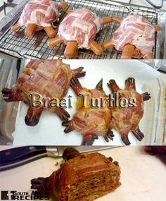 South African Recipes BRAAI TURTLES  (Jan Braai)