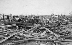 Victorian Blizzards, Nonstop in the 1880s – Kristin Holt   Sauk Rapids, MN after the devastating F4 tornado on April 14, 1886. Image courtesy Wikipedia. Image: The Weather Whisperer, Official Blog of the NWS Des Moines Serving Central Iowa