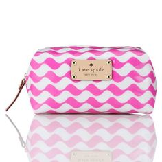my best friend just got me the prettiest Kate Spade makeup bag! Obsession!