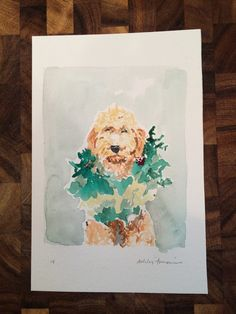 Watercolor pet portrait by AshleyFinnemore on Etsy