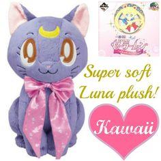 ❤ SAILOR MOON ichiban kuji 2 Prize B Soft Luna Nuigurumi Plush Doll ❤ KAWAII ^^