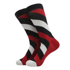 MYORED colorful mens brand cotton Oblique stripes socks for man. Striped Socks, Office Attire, Winter Collection, Latest Fashion, Your Style, Stripes, Cotton, Men, Colorful