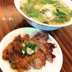 太陽神隱日來份烤香茅排骨湯河粉。Grilled Pork Chop Rice Noodles 4 cloudy #Taiwan #food