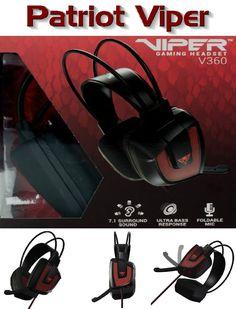 Patriot Memory Viper Wired Headset 7.1 Virtual Surround Headset Black Red 212fbafc3c