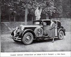 """the 1930s-ad for Million-Guiet car    1931-""""conduite intérieure Million-Guiet sur châssis 6.D.S Panhard"""