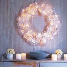 Martha Stewarts' Doily Wreath - Actually Made by PaperBouquetHolders