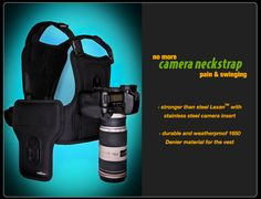 Cotton Carrier Is The Tactical SLR Camera Vest (video).  I have one & will never be without it!