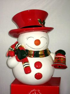 Christopher Radko Snowman Cookie Jar