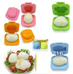 Aliexpress.com : Buy Free shipping!! 6pcs/set Car  Rabbit  Fish etc. DIY Sushi Mold, Rice  Vegetable Roll Mold,Egg Mold from Reliable Sushi Mold suppliers on Silicone DIY Mold and  Home Supplies Store $9.98