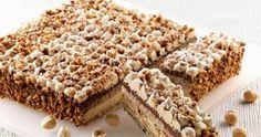 Alternating layers of hazelnut cake, hazelnut cream and chocolate cream, topped with praline hazelnuts. Party Desserts, Sweet Desserts, Sweet Recipes, Cake Recipes, Pastry Recipes, Italian Bakery, Italian Desserts, Gourmet Cakes, Food Cakes