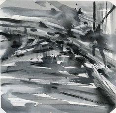 GRISAZUR: Acuarela sobre papel, 14x14 cm.Nov. 19, 2016